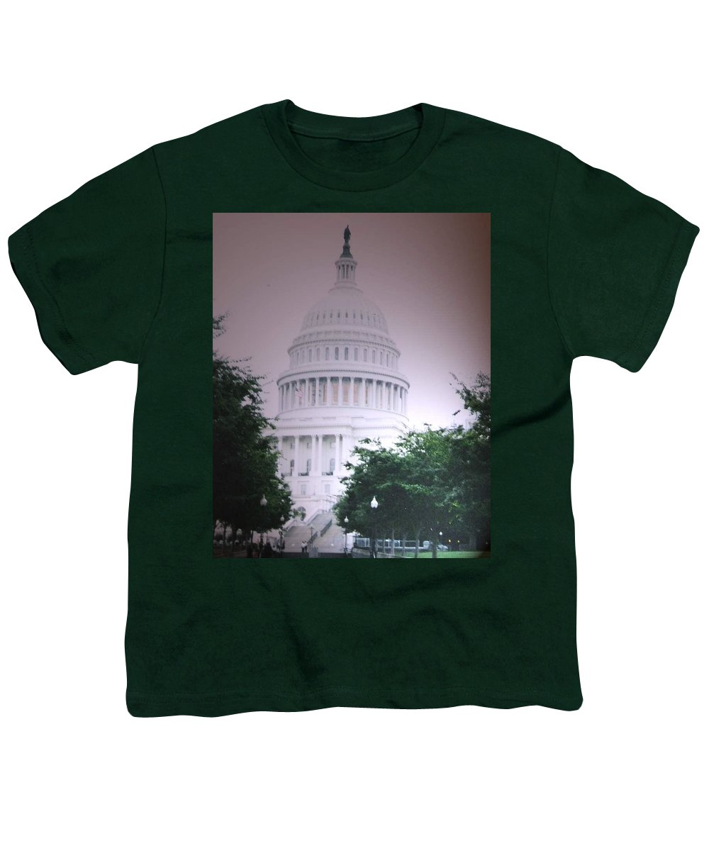 Capitol Youth T-Shirt featuring the photograph Capitol In Pink by Pharris Art