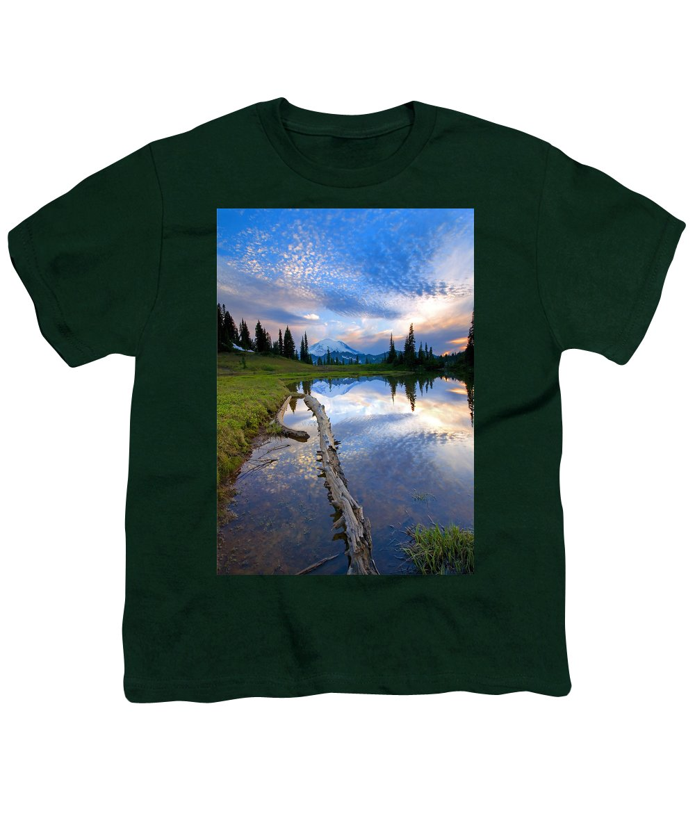 Landscape Youth T-Shirt featuring the photograph Cloud Explosion by Mike Dawson