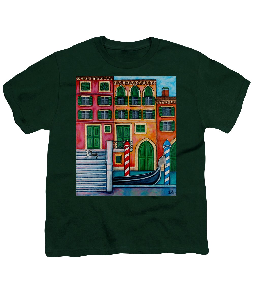 Venice Youth T-Shirt featuring the painting Colours Of Venice by Lisa Lorenz