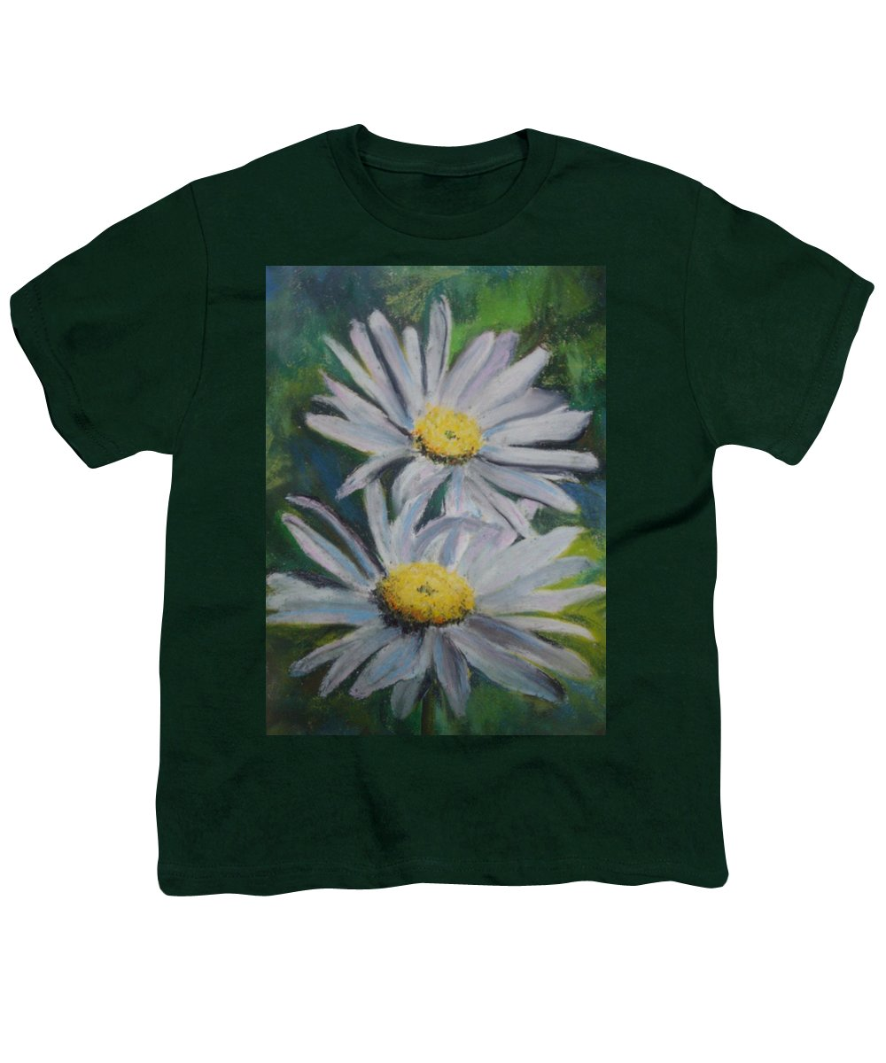 Daisies Youth T-Shirt featuring the painting Daisies by Melinda Etzold
