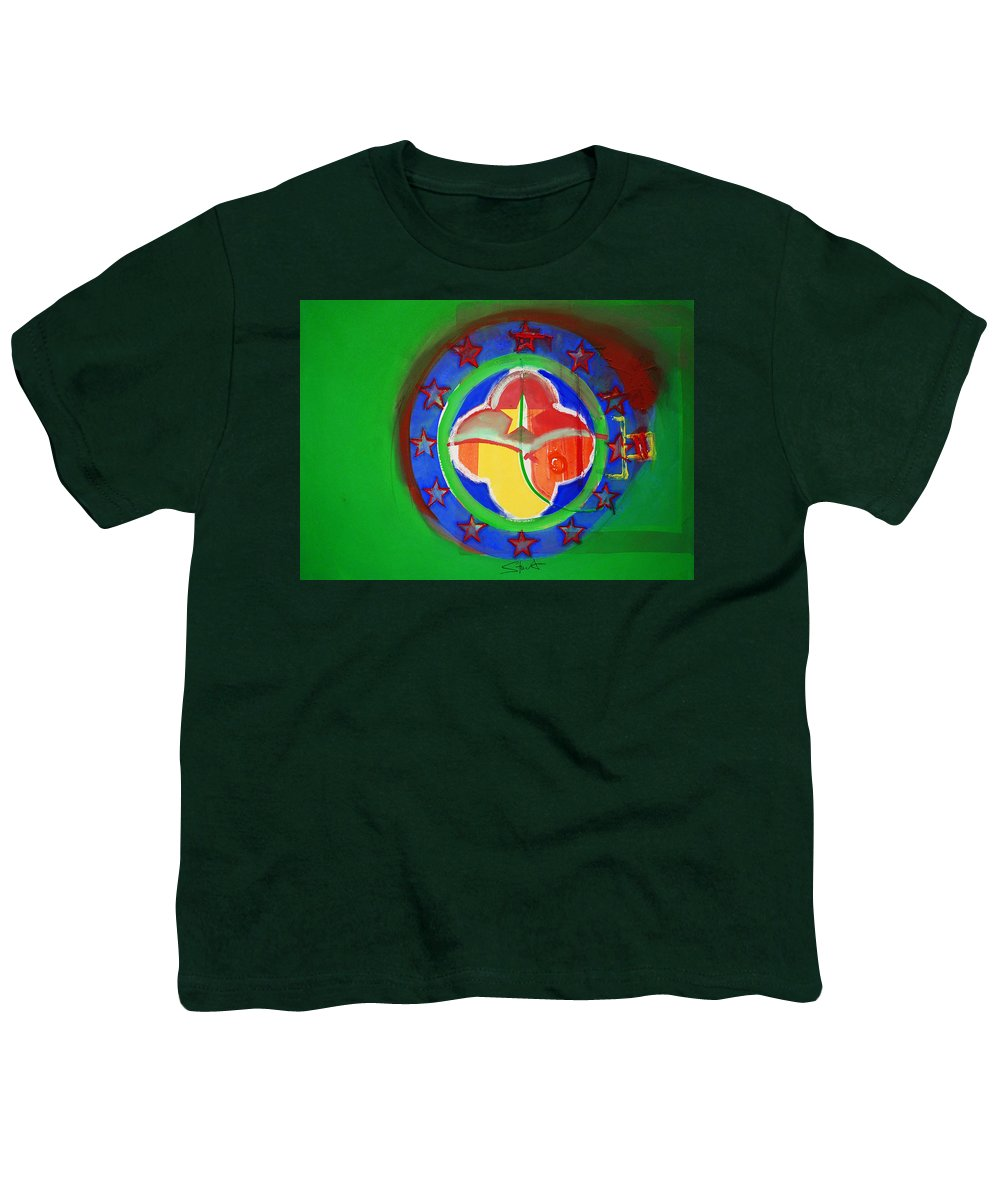 Symbol Youth T-Shirt featuring the painting Euromarine by Charles Stuart