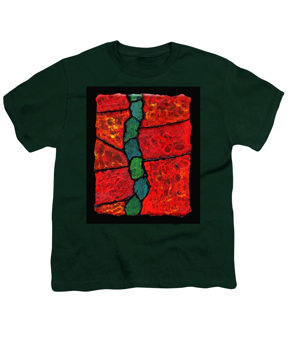 Abstract Youth T-Shirt featuring the painting Faux Tile Painting One by Wayne Potrafka