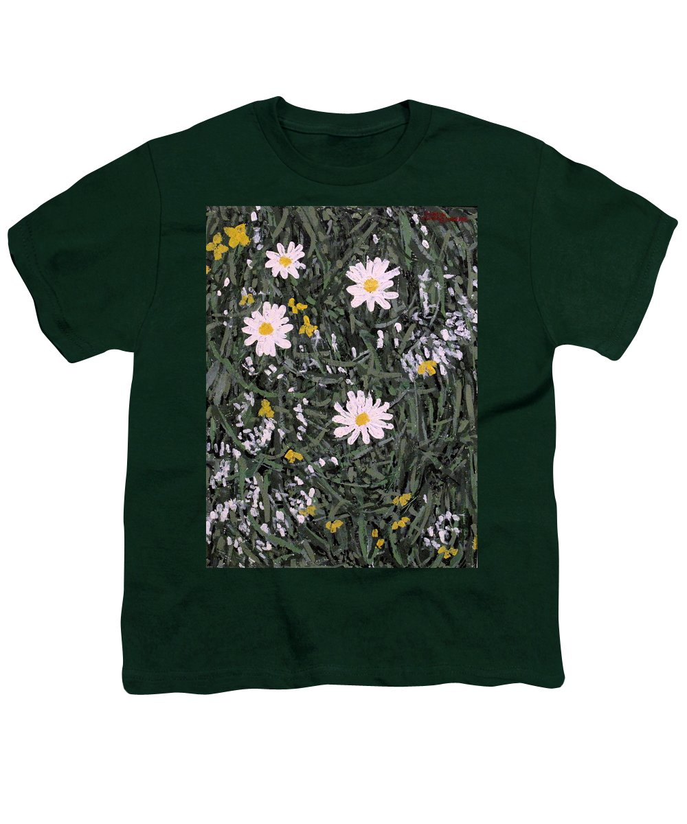 Daisies Youth T-Shirt featuring the painting Field Daisies by Ian MacDonald