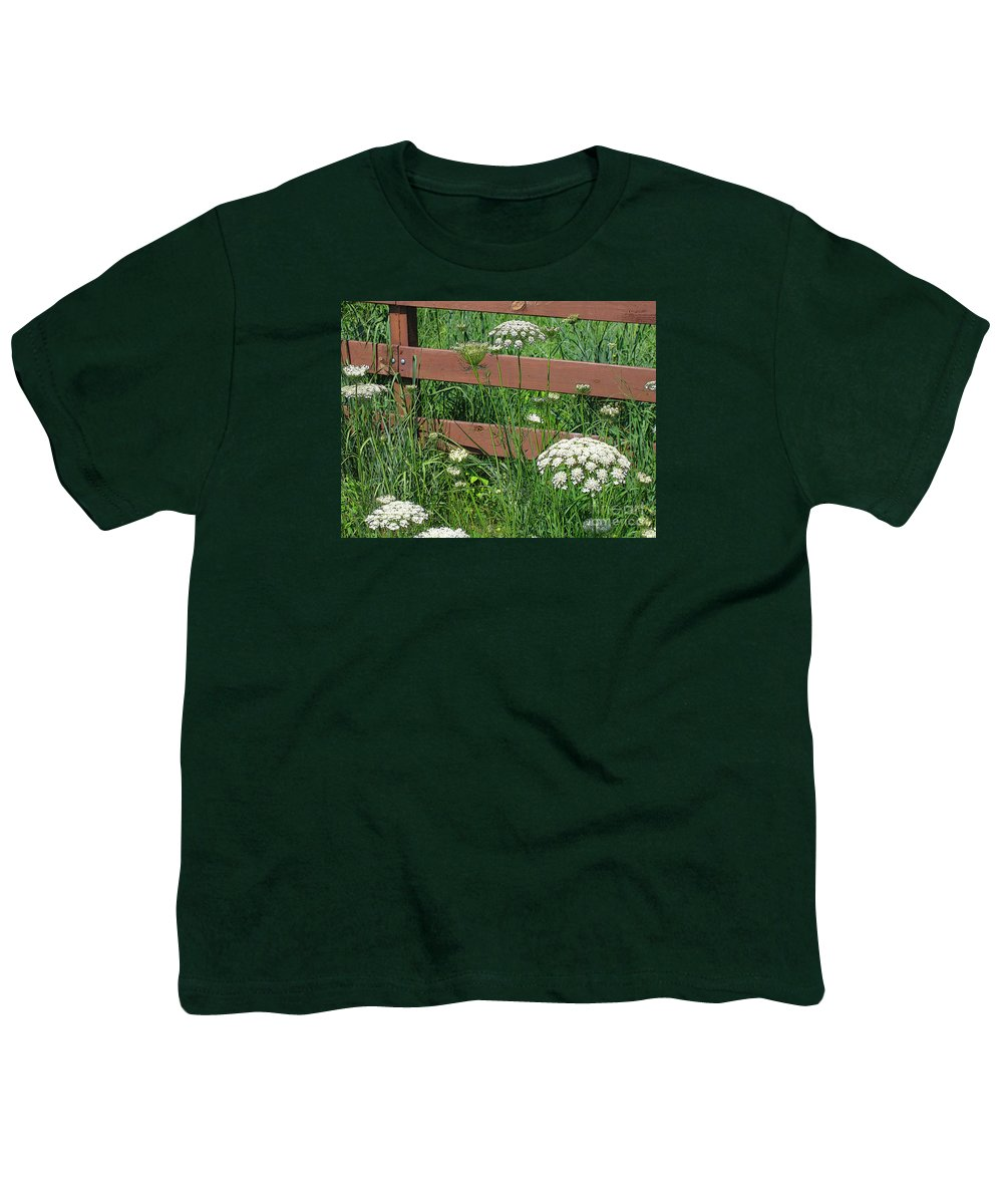 Flower Youth T-Shirt featuring the photograph Field Of Lace by Ann Horn