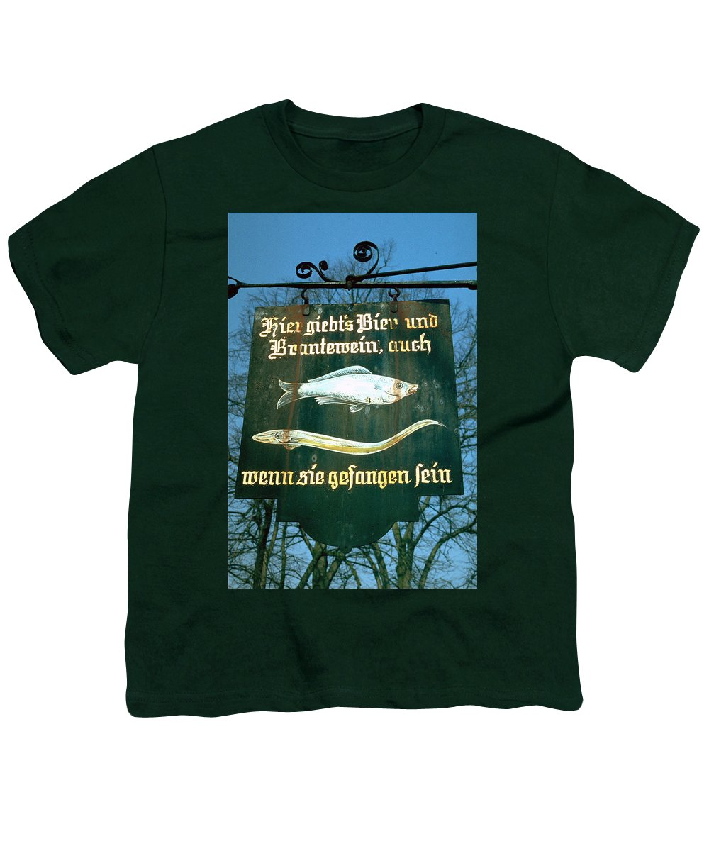 Store Sign Youth T-Shirt featuring the photograph Fish by Flavia Westerwelle