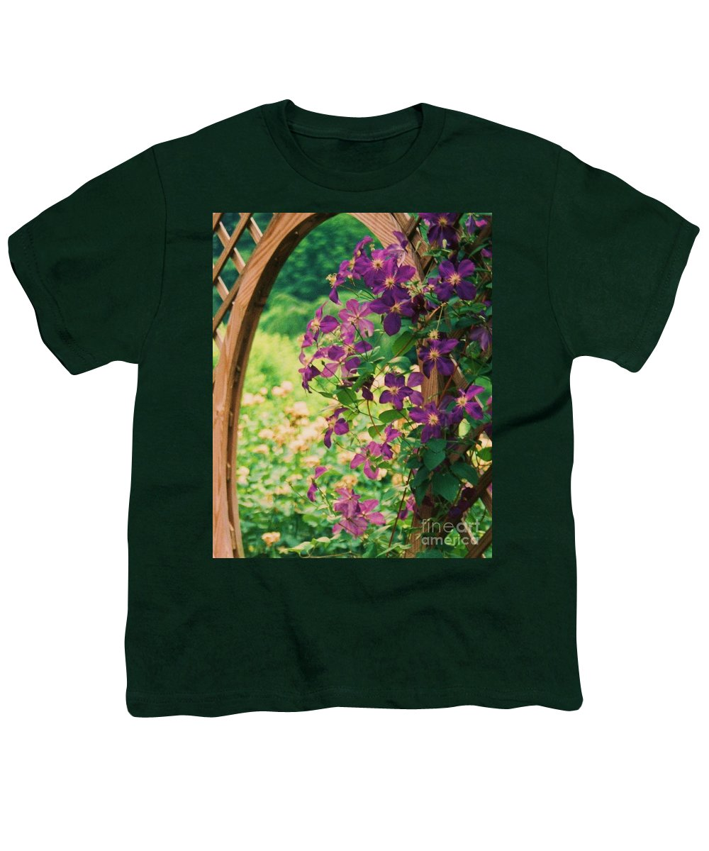 Floral Youth T-Shirt featuring the painting Flowers On Vine by Eric Schiabor