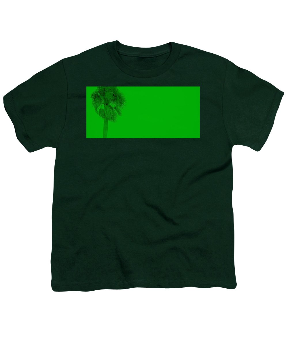Landscape Youth T-Shirt featuring the photograph Green Palm by Ed Smith