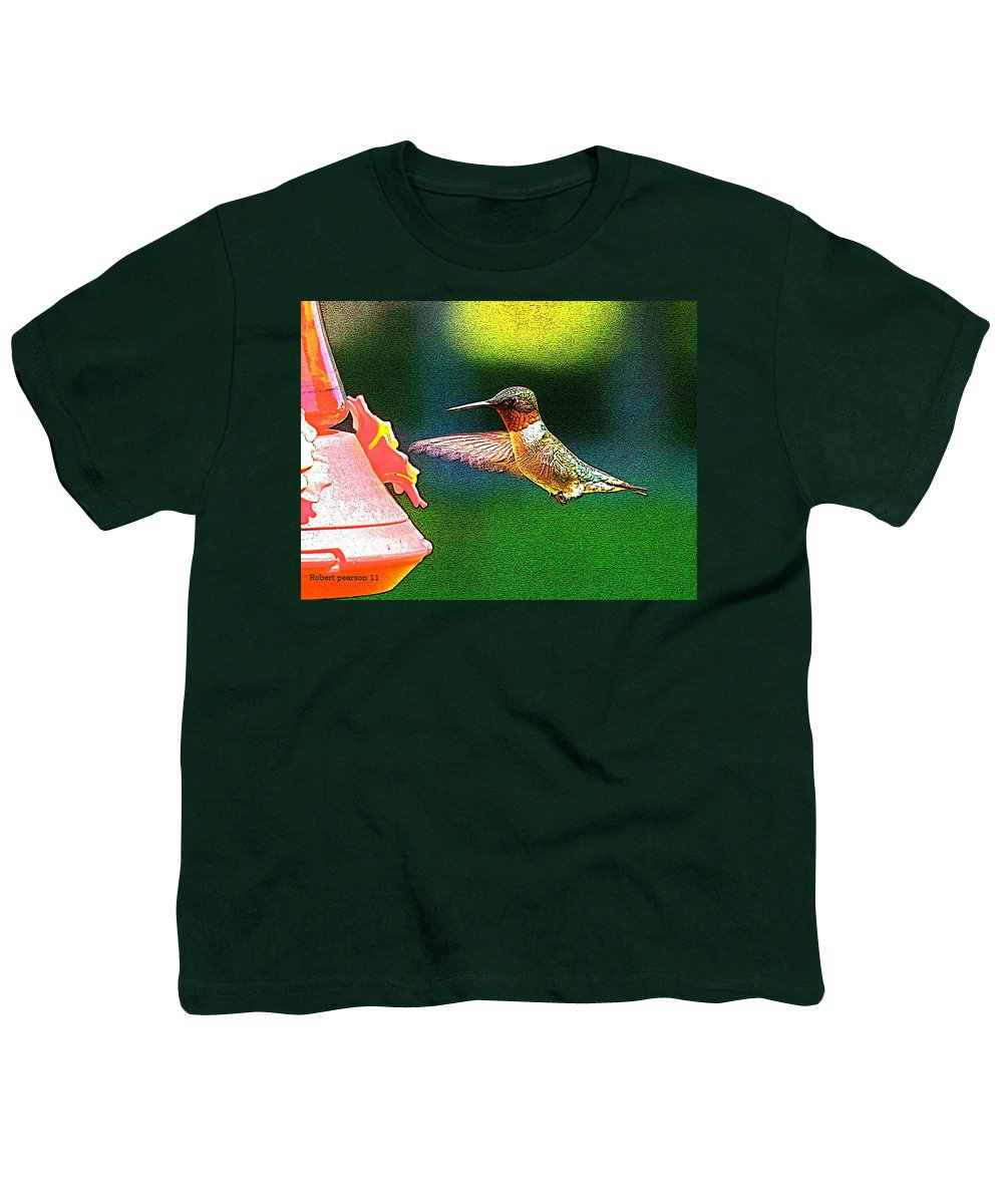 Humming Bird Youth T-Shirt featuring the photograph Hmmm by Robert Pearson