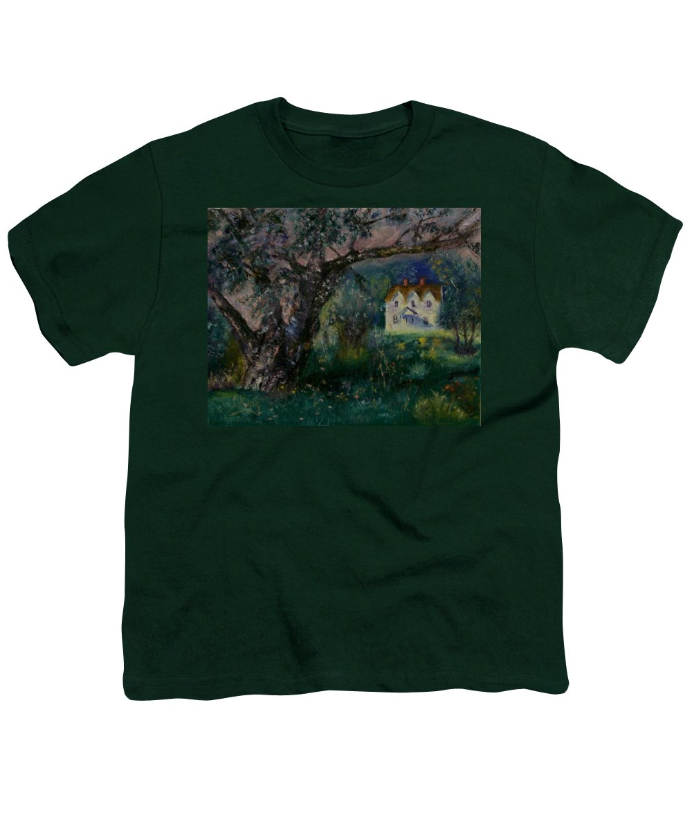 Landscape Youth T-Shirt featuring the painting Homestead by Stephen King