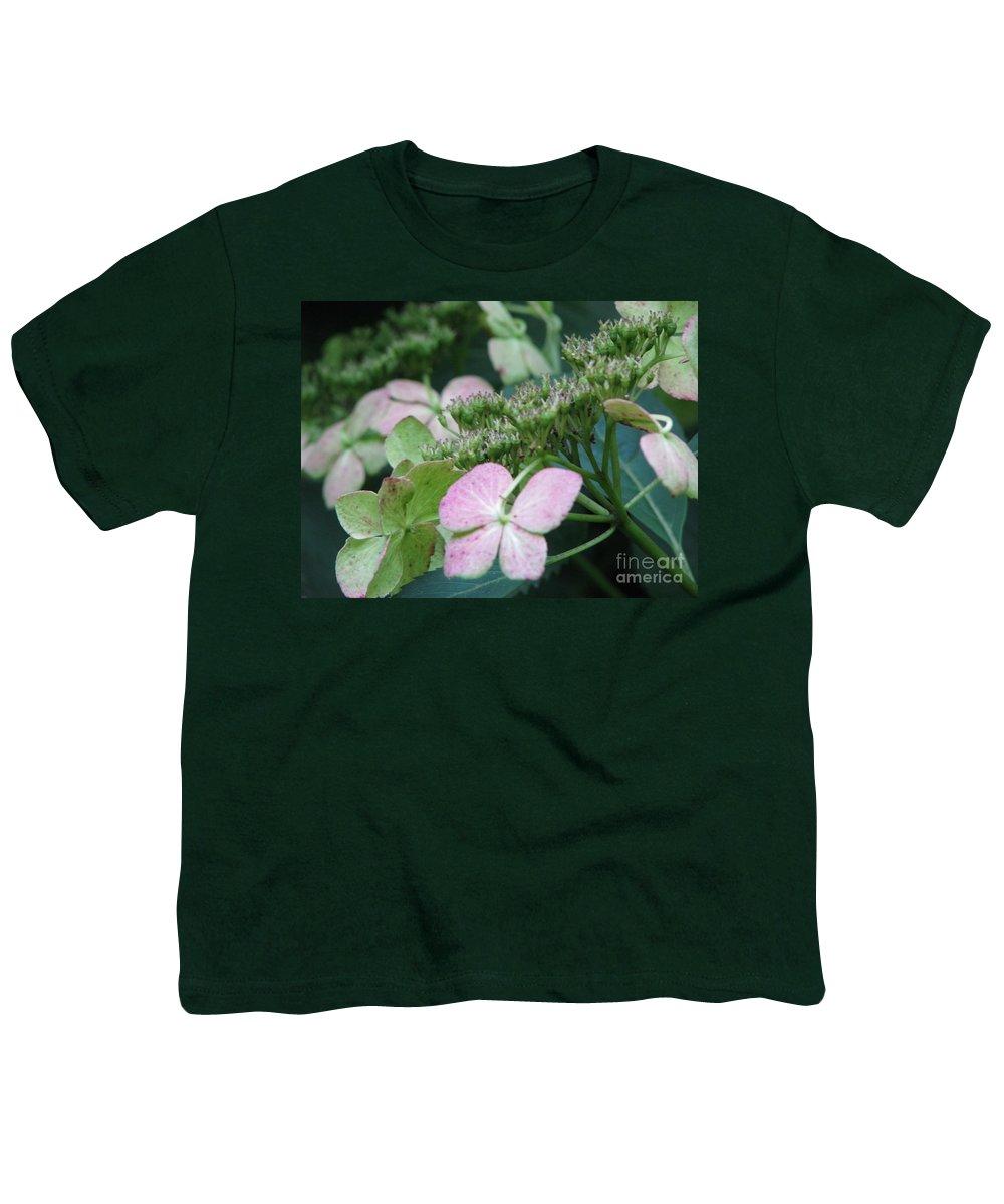Hydrangea Youth T-Shirt featuring the photograph Hydrangea by Amanda Barcon