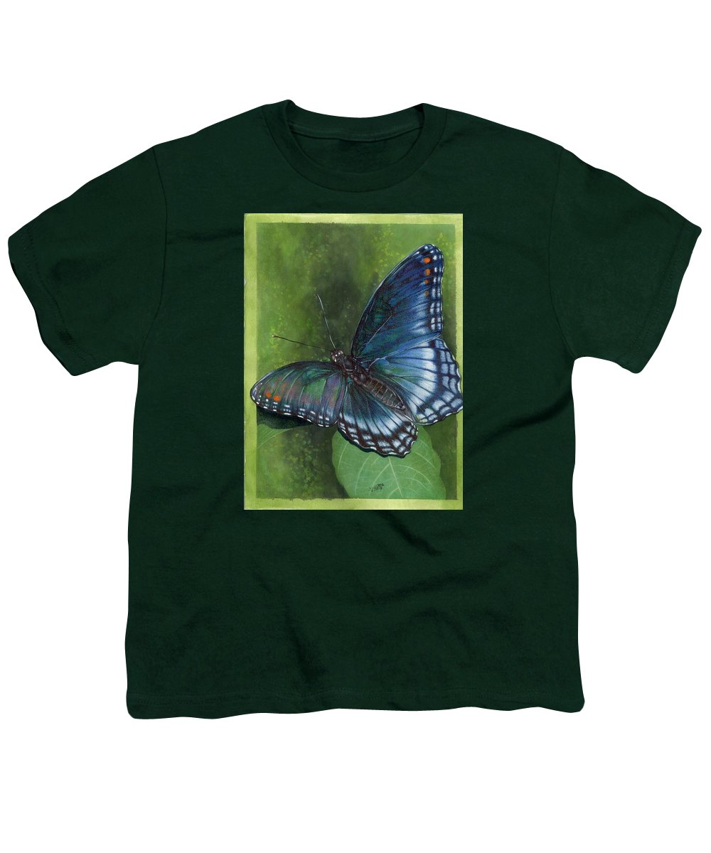 Insects Youth T-Shirt featuring the mixed media Jewel Tones by Barbara Keith