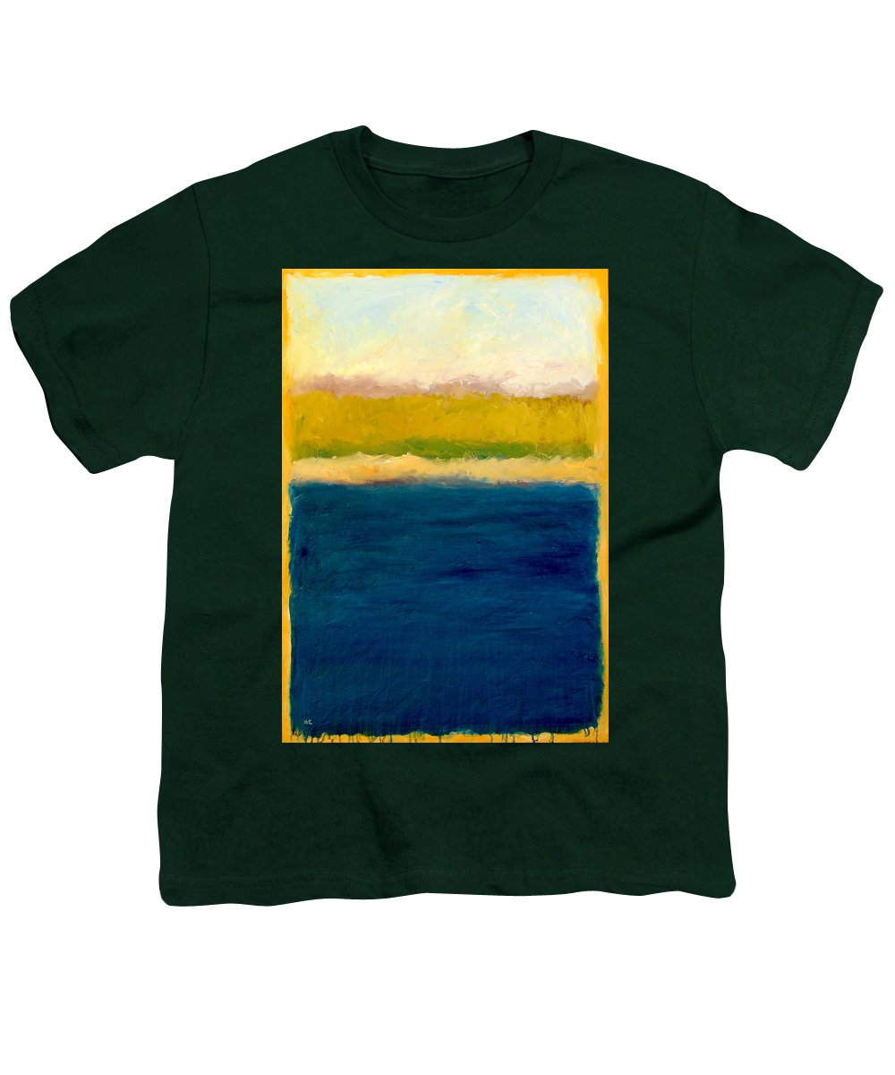 Dunes Youth T-Shirt featuring the painting Lake Michigan Beach Abstracted by Michelle Calkins