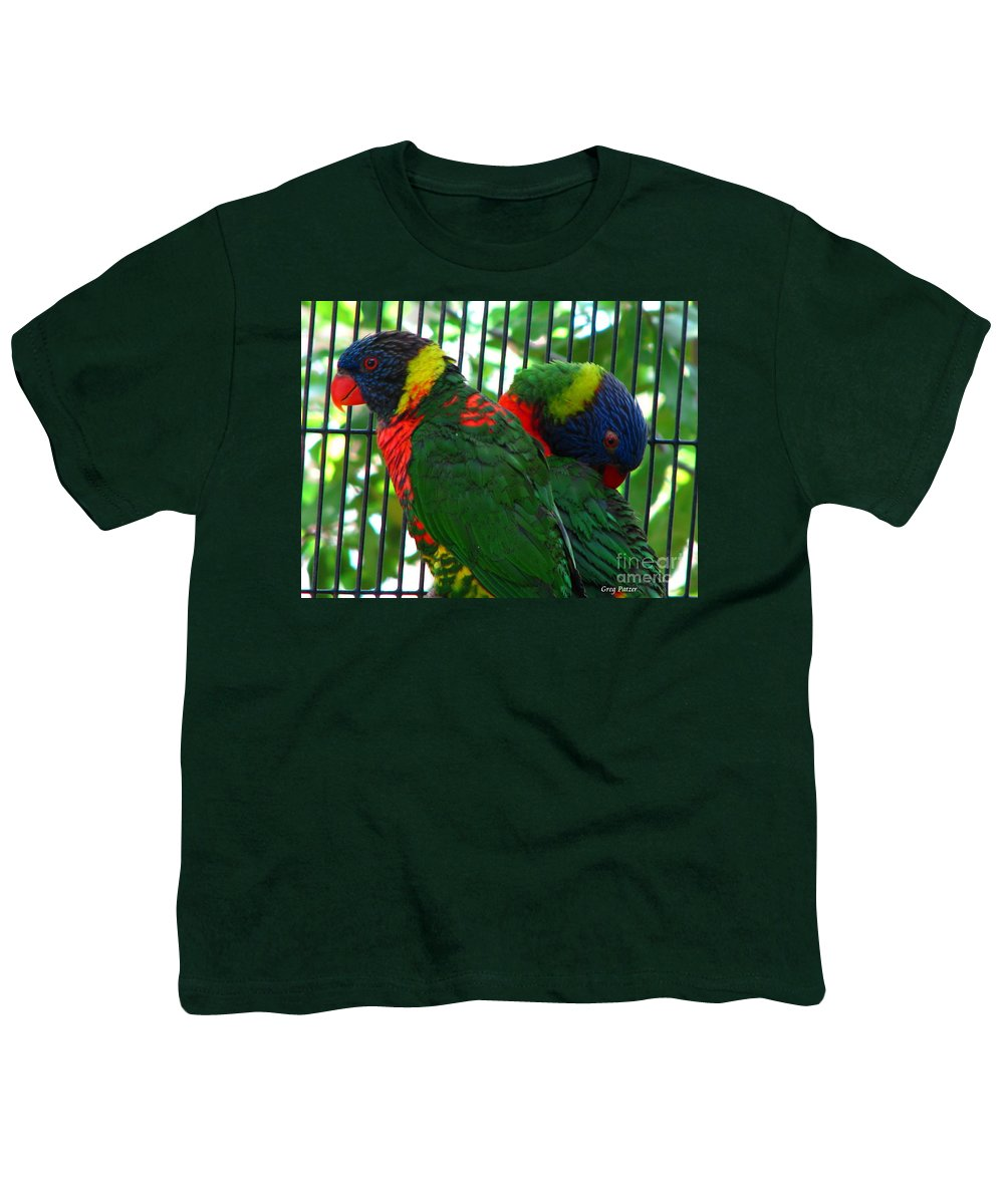 Patzer Youth T-Shirt featuring the photograph Lory by Greg Patzer