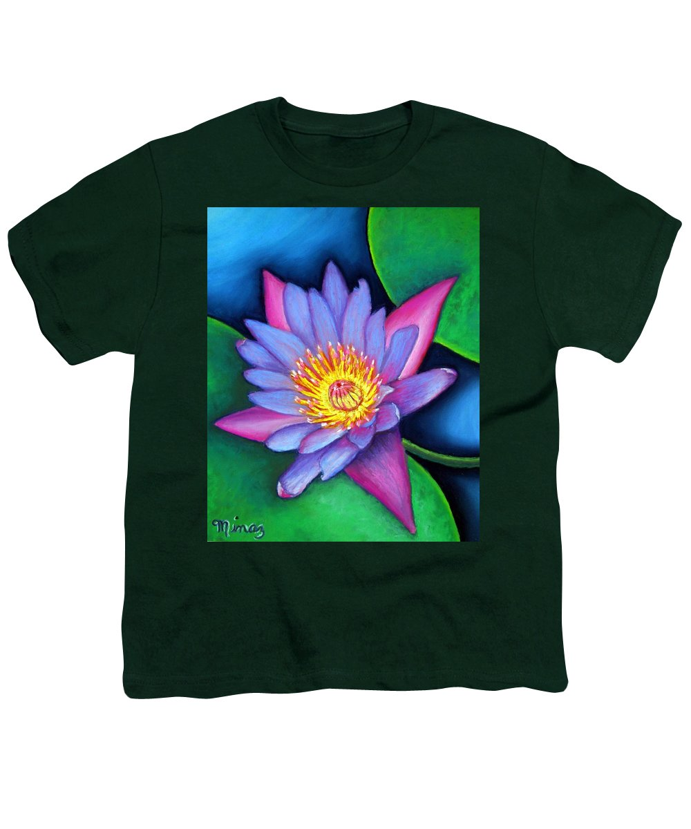 Flower Youth T-Shirt featuring the painting Lotus Divine by Minaz Jantz