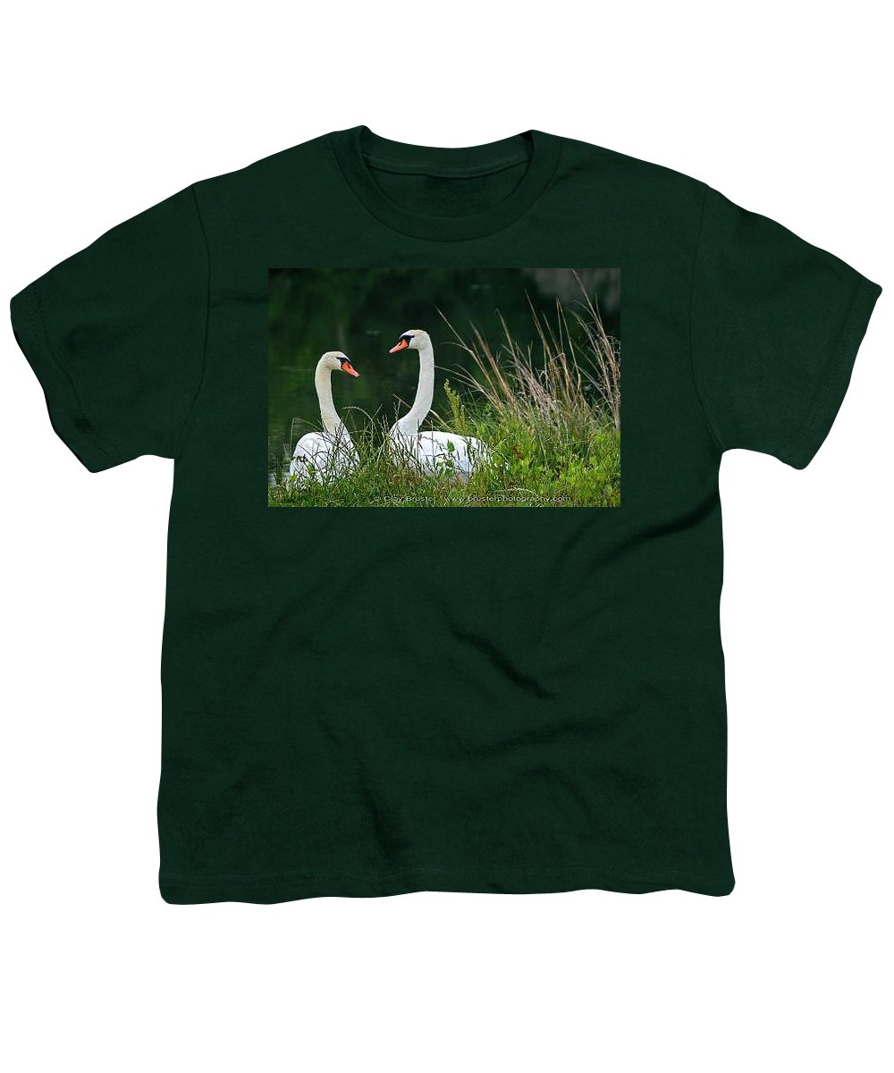 Clay Youth T-Shirt featuring the photograph Loving Swans by Clayton Bruster
