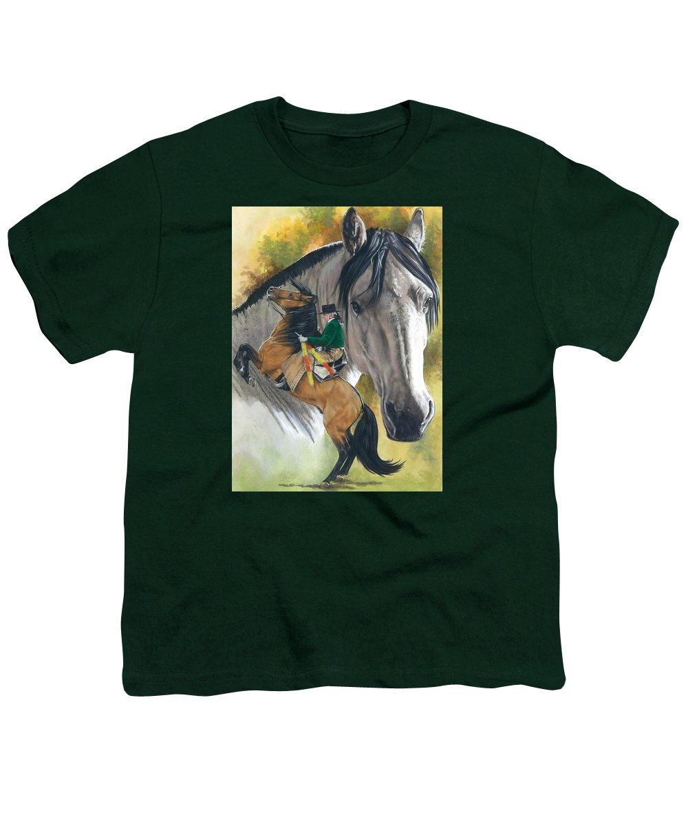 Horses Youth T-Shirt featuring the mixed media Lusitano by Barbara Keith