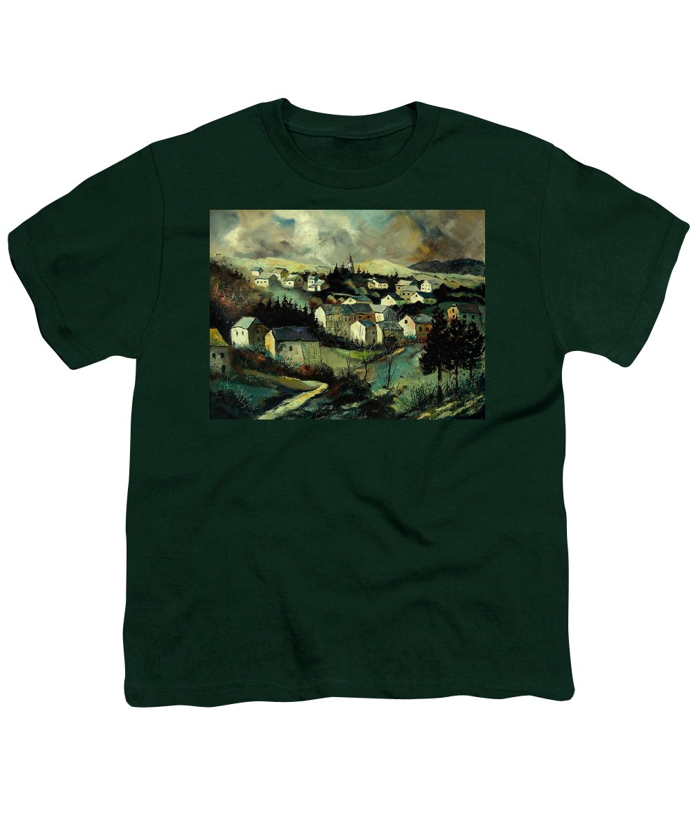 Winter Youth T-Shirt featuring the painting Masbourg by Pol Ledent