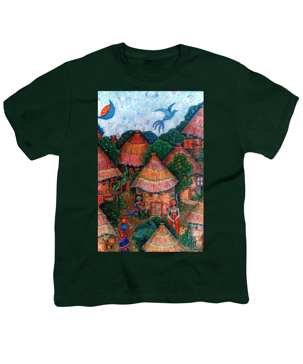 Africa Youth T-Shirt featuring the painting Maybe That Was My Country by Madalena Lobao-Tello