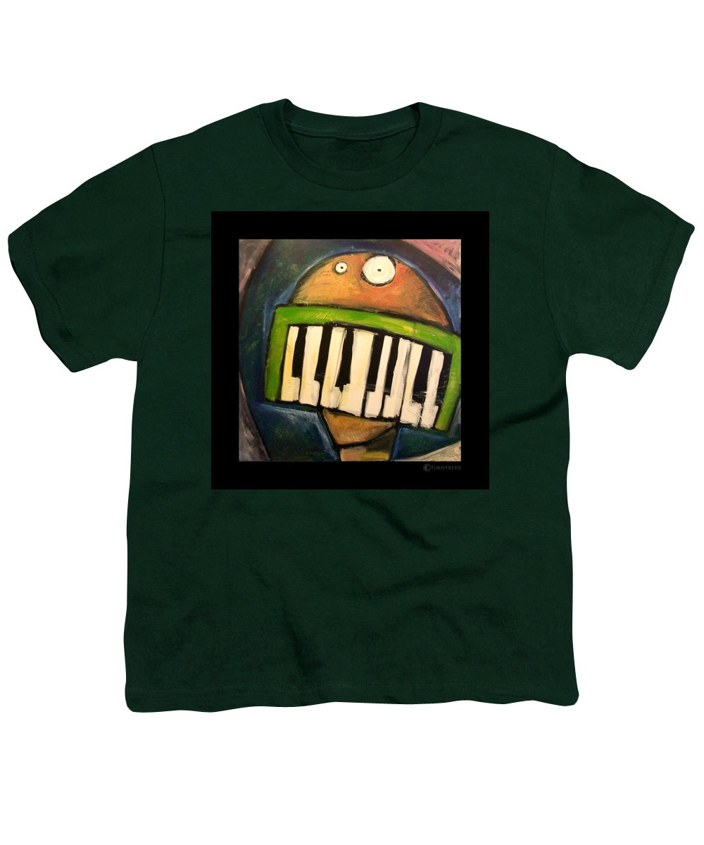 Funny Youth T-Shirt featuring the painting Melodica Mouth by Tim Nyberg