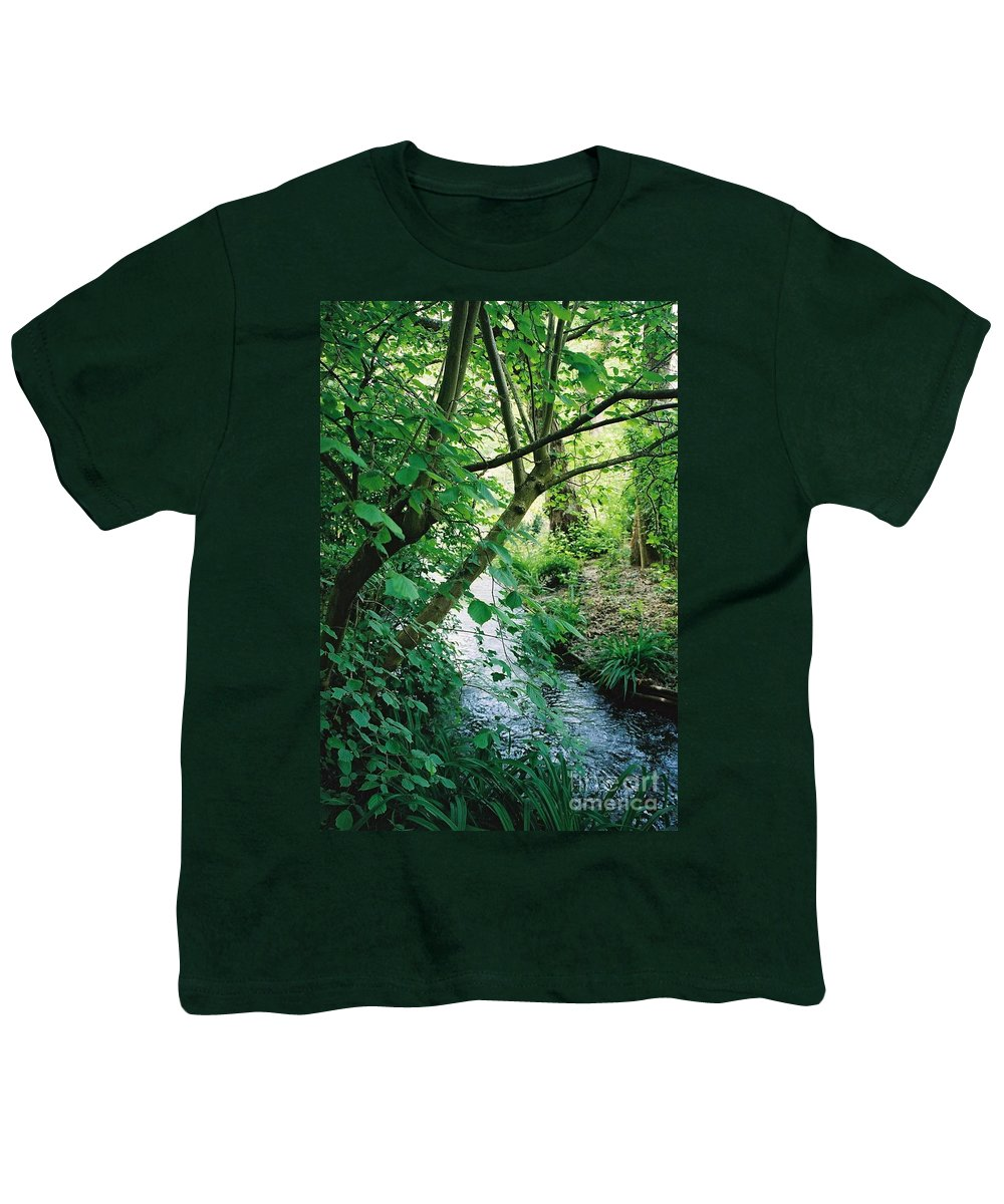 Photography Youth T-Shirt featuring the photograph Monet's Garden Stream by Nadine Rippelmeyer