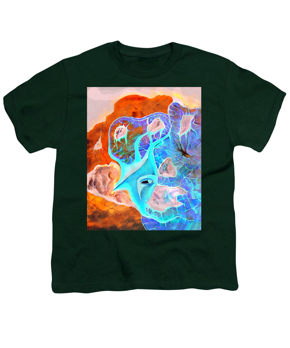 Surrealism Color Sky Haven Stones Youth T-Shirt featuring the painting More Seconds In My Head by Veronica Jackson