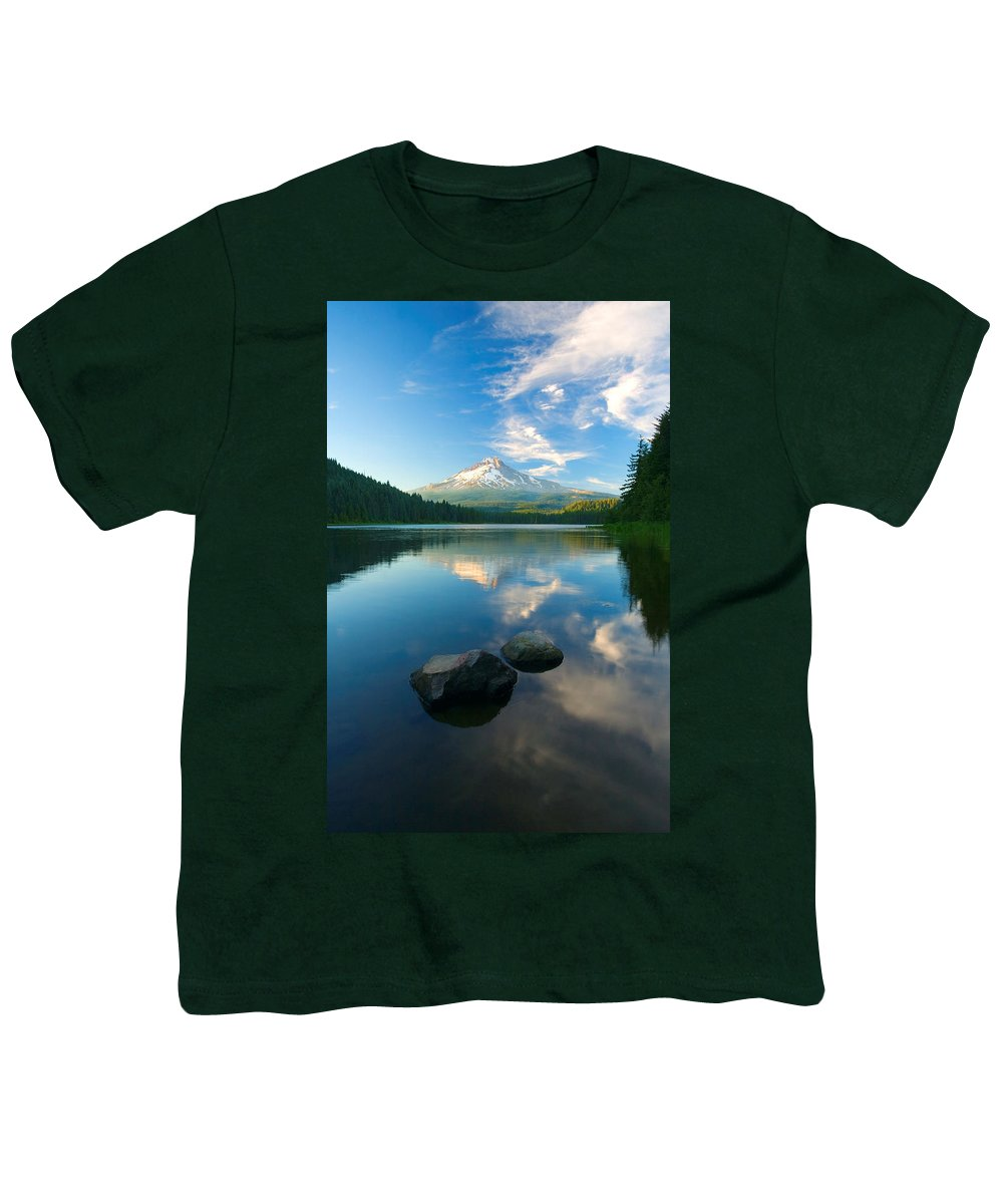 Mt. Hood Youth T-Shirt featuring the photograph Mt. Hood Cirrus Explosion by Mike Dawson