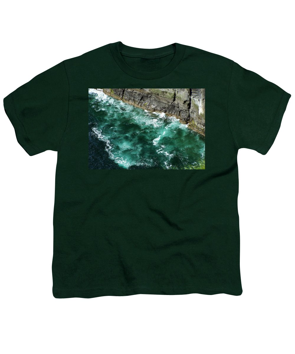 Irish Youth T-Shirt featuring the photograph Nowhere To Go Cliffs Of Moher Ireland by Teresa Mucha