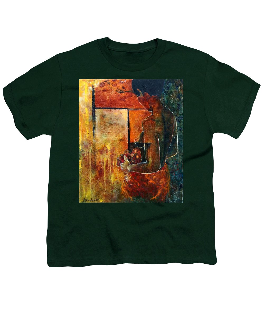 Woman Girl Fashion Nude Youth T-Shirt featuring the painting Nude by Pol Ledent