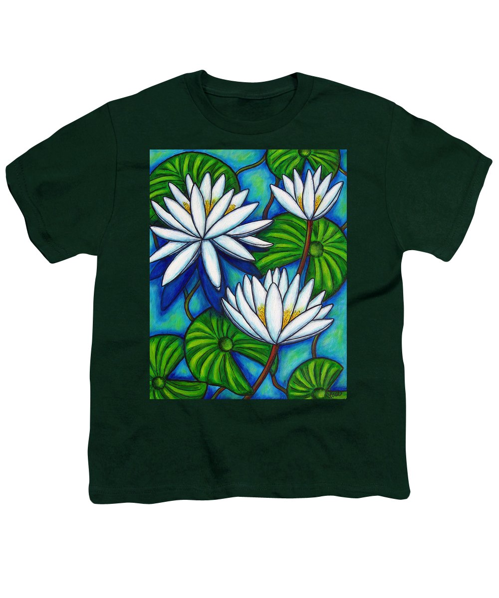 Lily Youth T-Shirt featuring the painting Nymphaea Blue by Lisa Lorenz