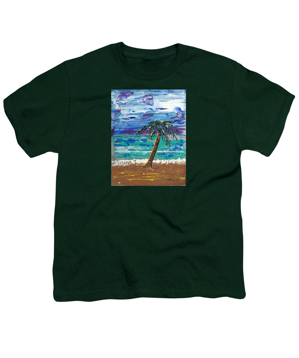 Palm Tree Youth T-Shirt featuring the painting Palm Beach by J R Seymour