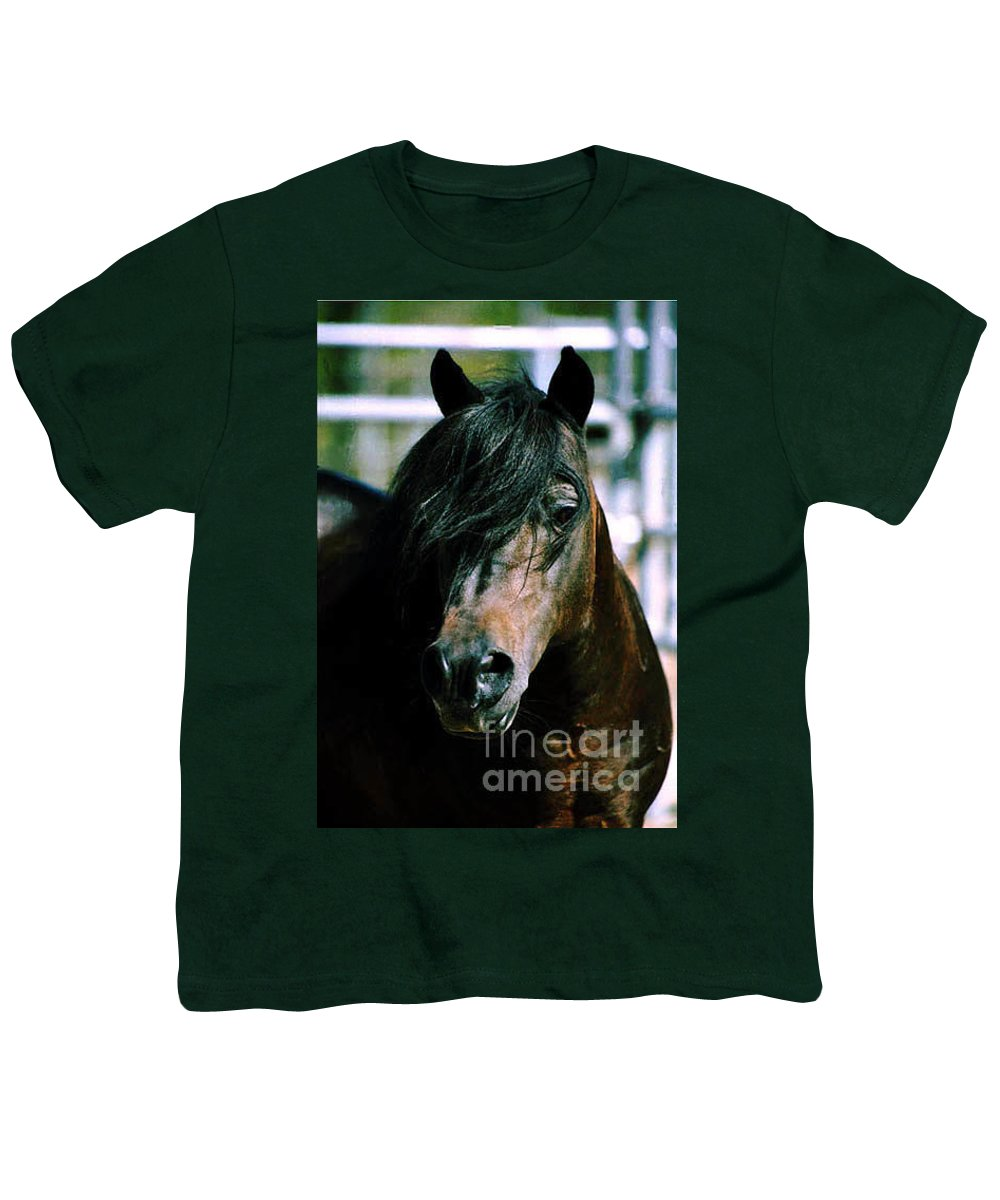 Horse Youth T-Shirt featuring the photograph Portrait Of His Majesty - The King by Kathy McClure