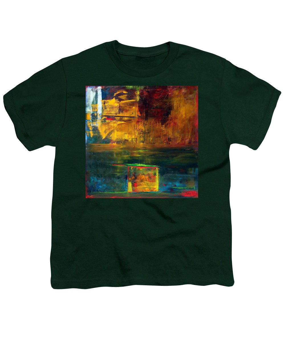 New York City Reflection Red Yellow Blue Green Youth T-Shirt featuring the painting Reflections Of New York by Jack Diamond