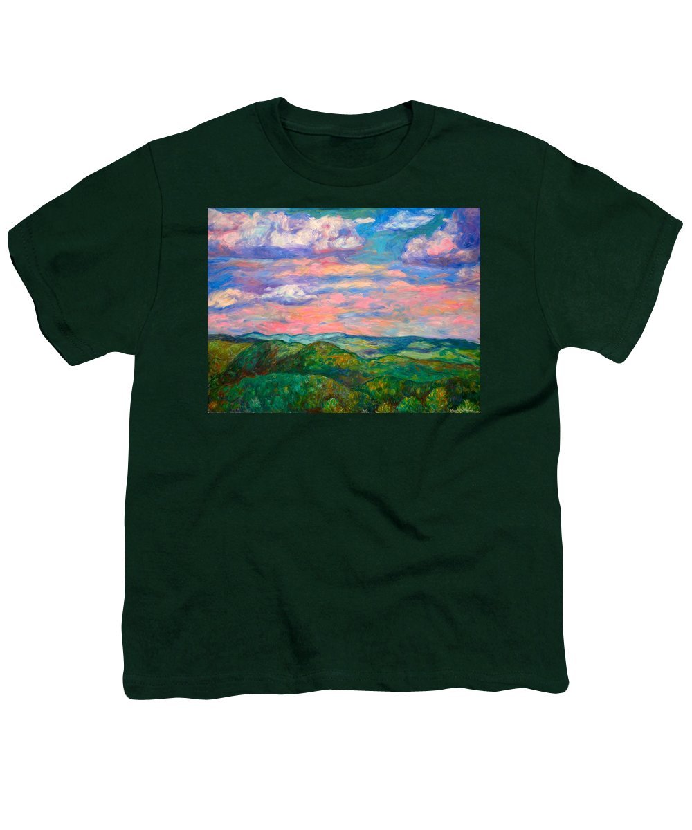 Landscape Paintings Youth T-Shirt featuring the painting Rock Castle Gorge by Kendall Kessler