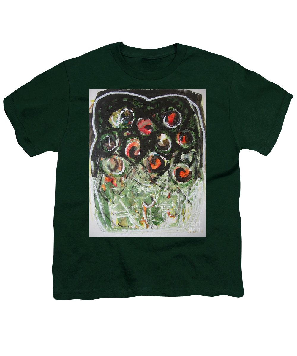 Abstract Painting Youth T-Shirt featuring the painting Roses by Seon-Jeong Kim