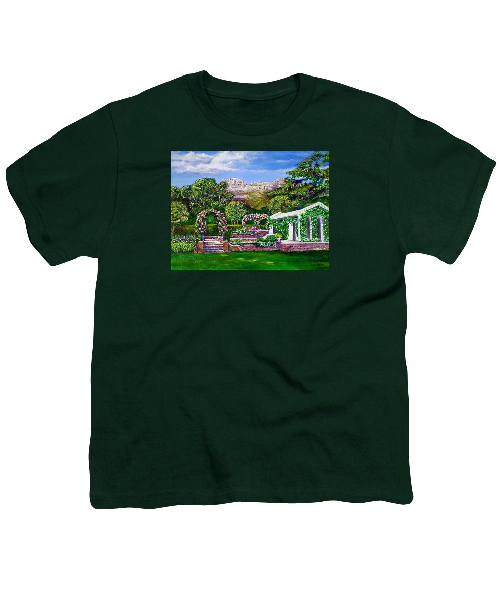Landscape Youth T-Shirt featuring the painting Rozannes Garden by Michael Durst