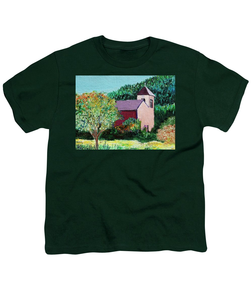 Church Youth T-Shirt featuring the painting Ruidoso by Melinda Etzold