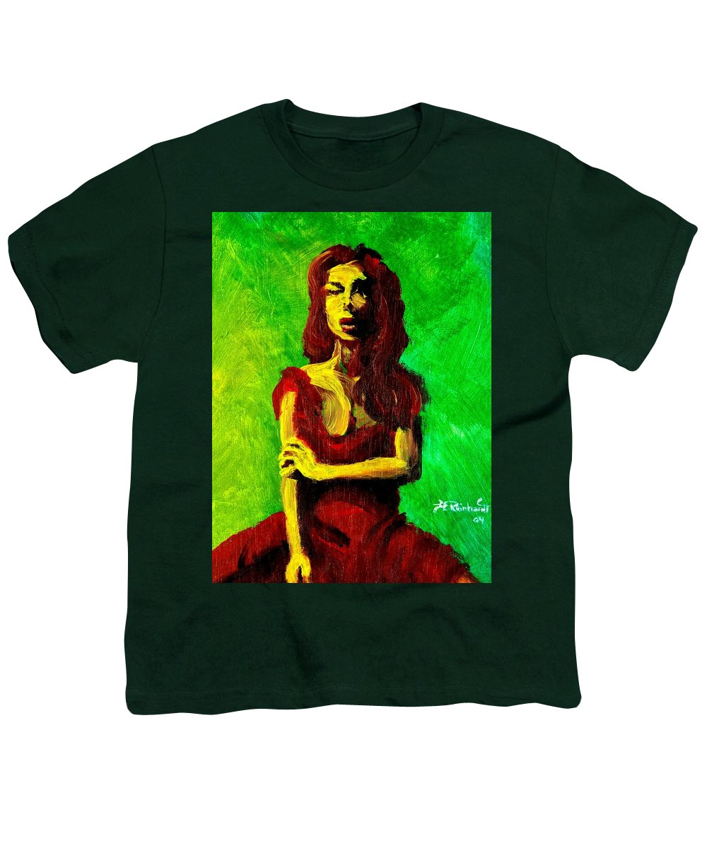 Expressionist Youth T-Shirt featuring the painting Scarlet by Jason Reinhardt