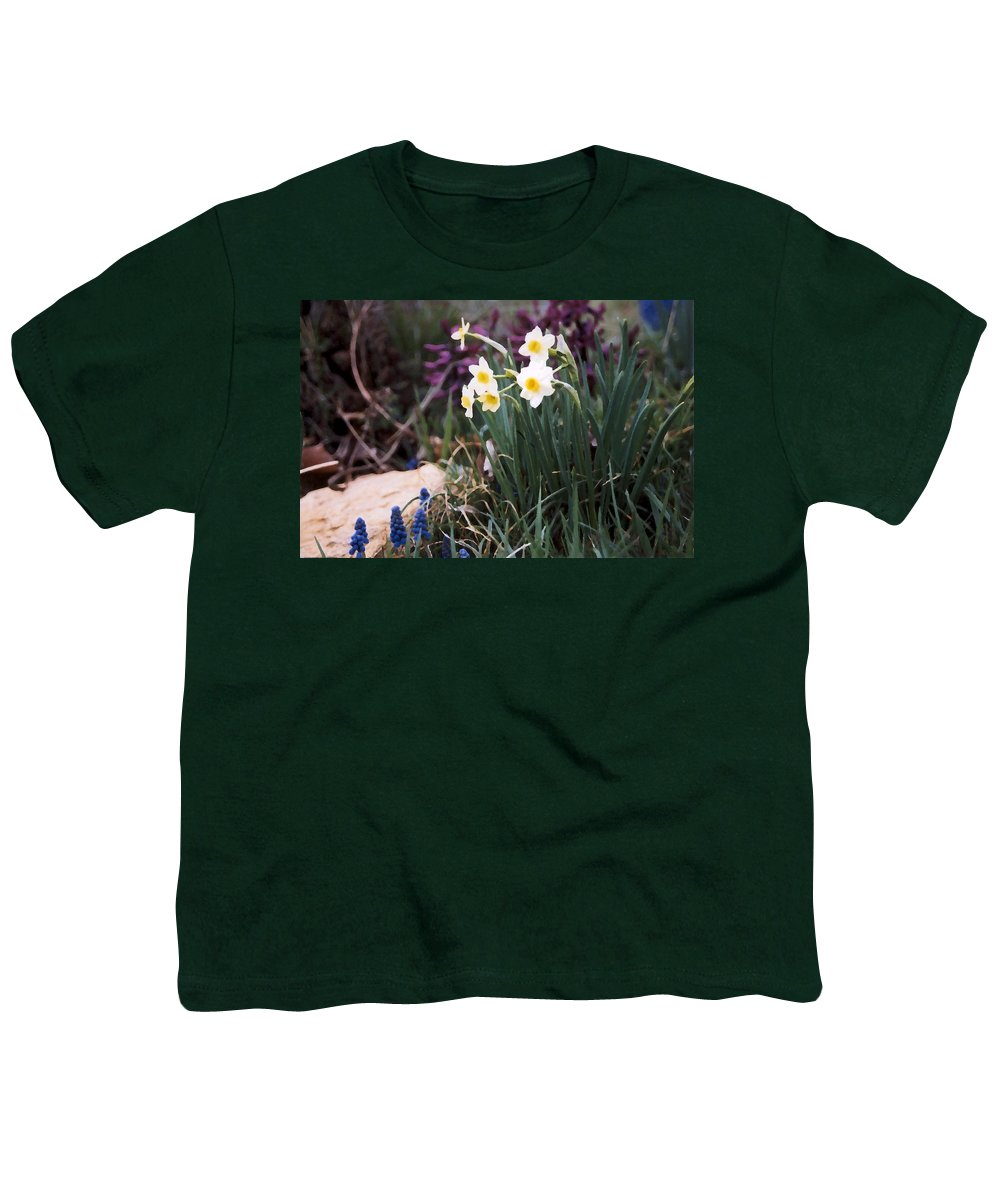 Flowers Youth T-Shirt featuring the photograph Spring Garden by Steve Karol