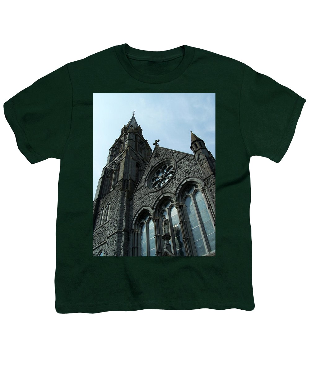 Ireland Youth T-Shirt featuring the photograph St. Mary's Of The Rosary Catholic Church by Teresa Mucha