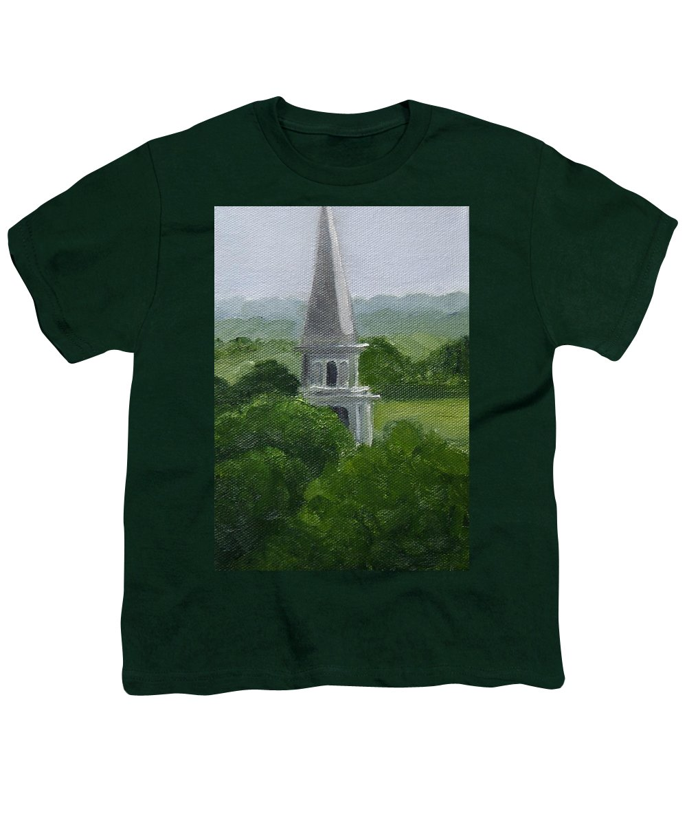Steeple Youth T-Shirt featuring the painting Steeple by Toni Berry