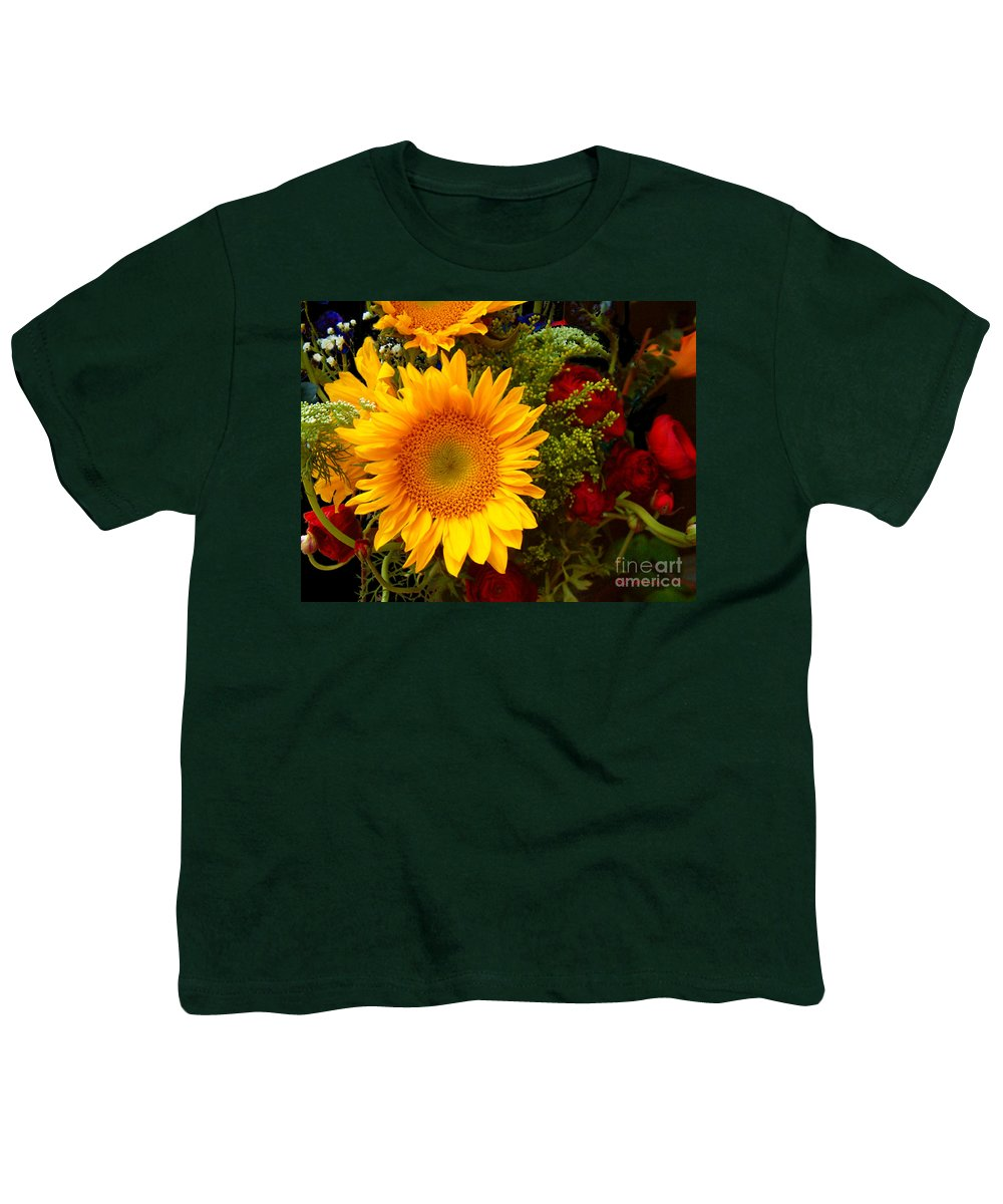 Sunflower Youth T-Shirt featuring the photograph Straight No Chaser by RC DeWinter