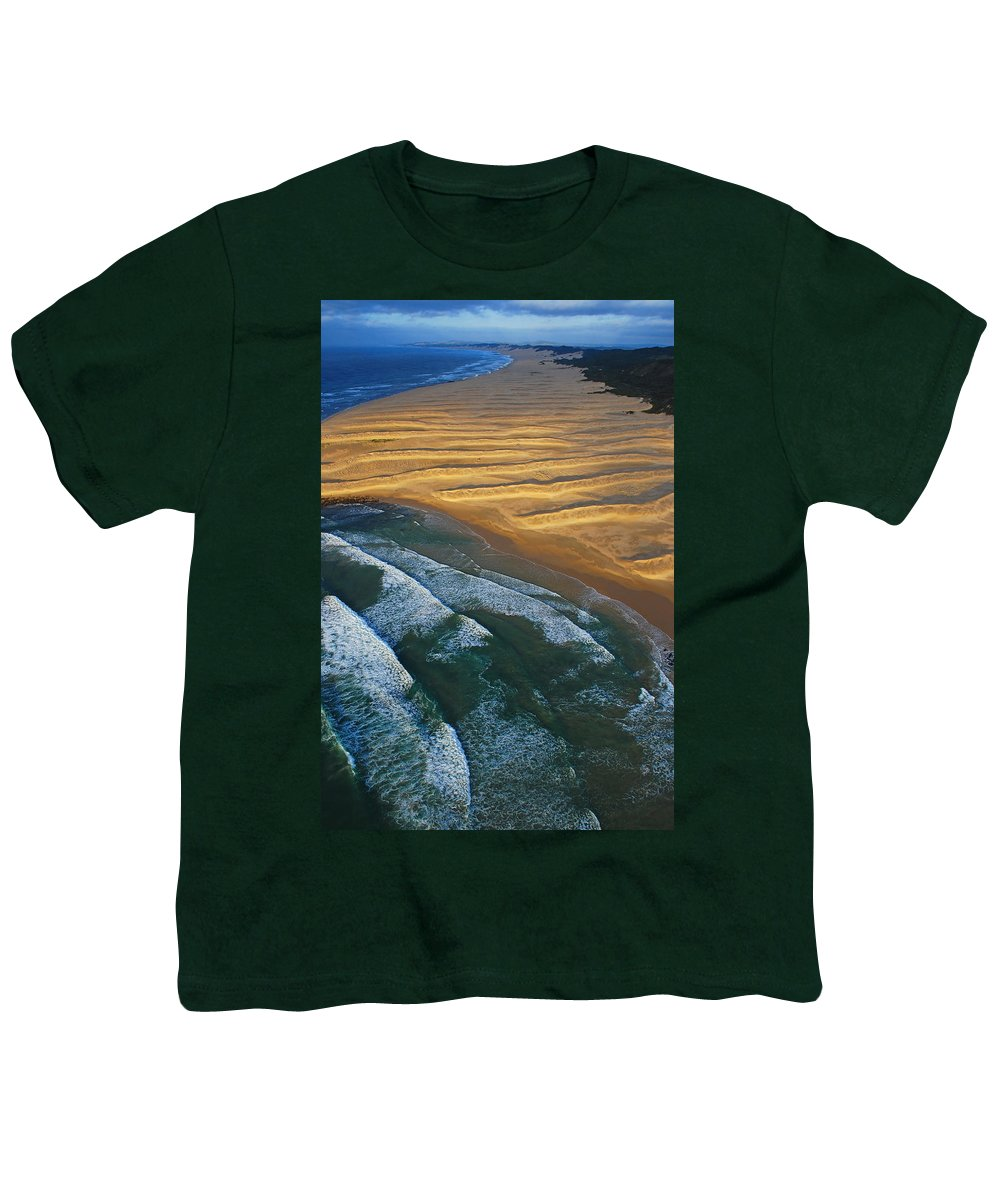 Coast Youth T-Shirt featuring the photograph Sun Rise Coast by Skip Hunt