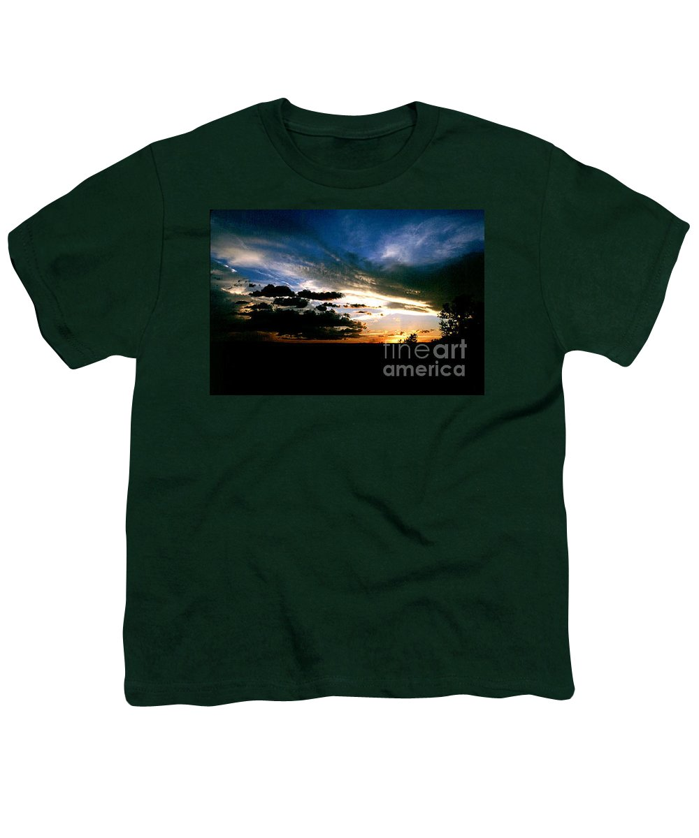 Sunset Youth T-Shirt featuring the photograph Sunset At The North Rim by Kathy McClure