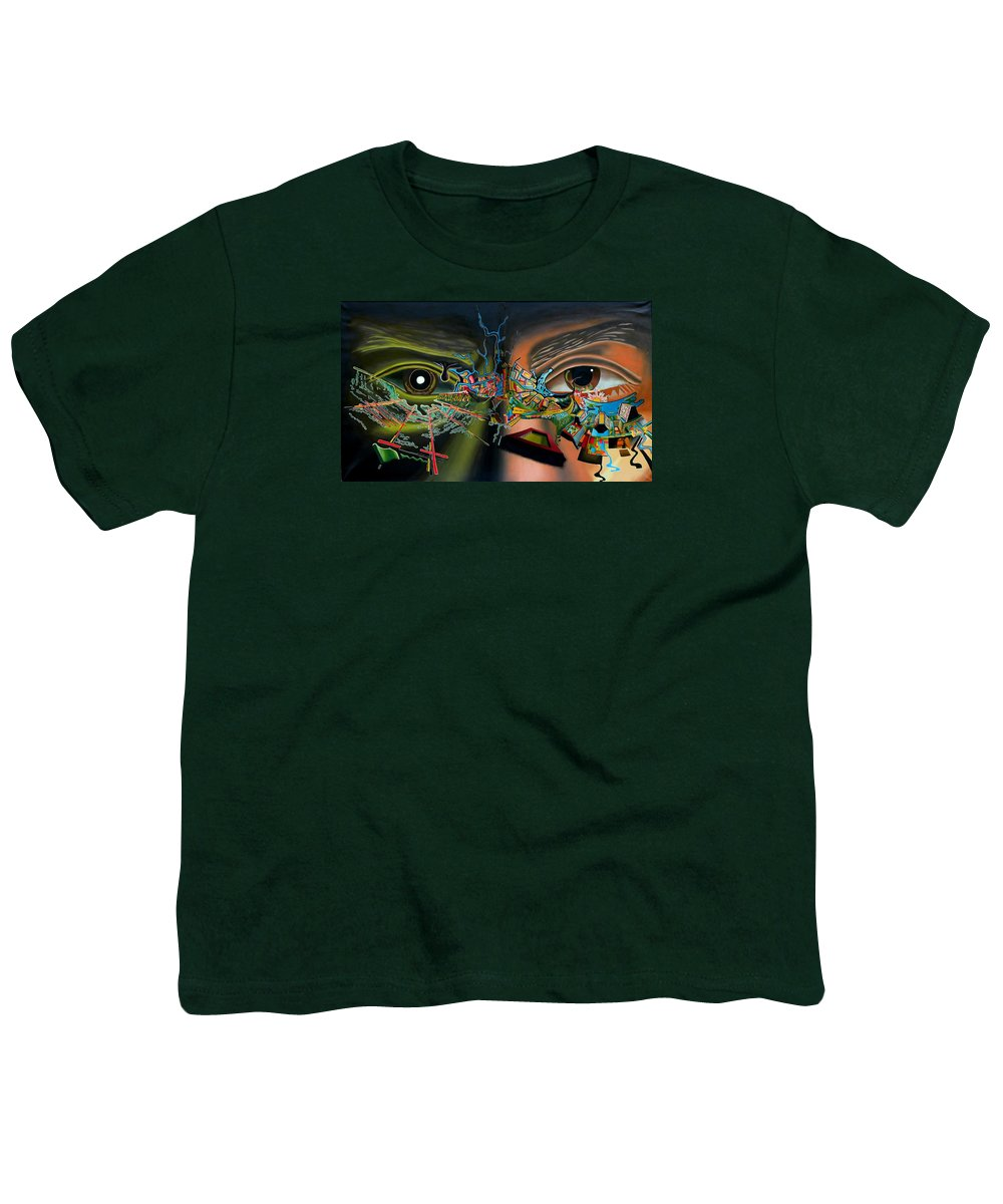 Surreal Youth T-Shirt featuring the painting The Surreal Bridge by Dave Martsolf