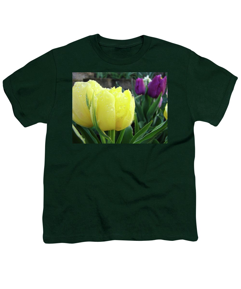 �tulips Artwork� Youth T-Shirt featuring the photograph Tulip Flowers Artwork Tulips Art Prints 10 Floral Art Gardens Baslee Troutman by Baslee Troutman