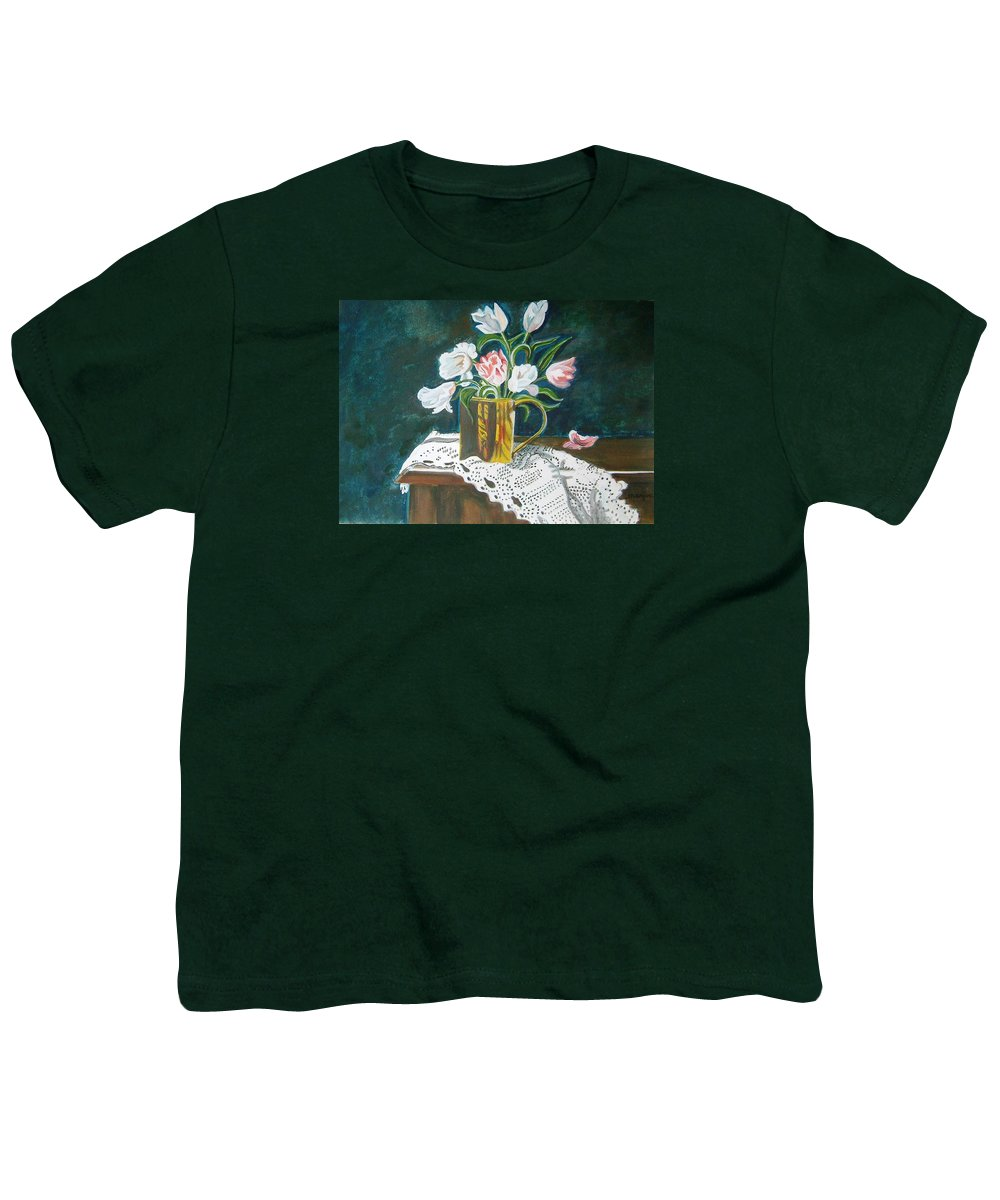 Tulips Youth T-Shirt featuring the painting Tulips by Manjiri Kanvinde