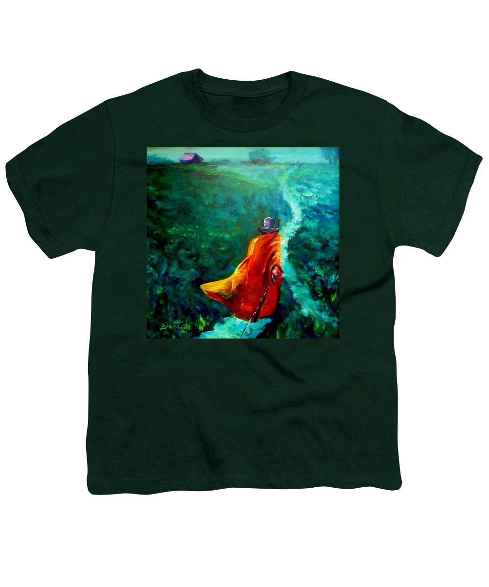 Expressionist Youth T-Shirt featuring the painting Up That Hill by Jason Reinhardt