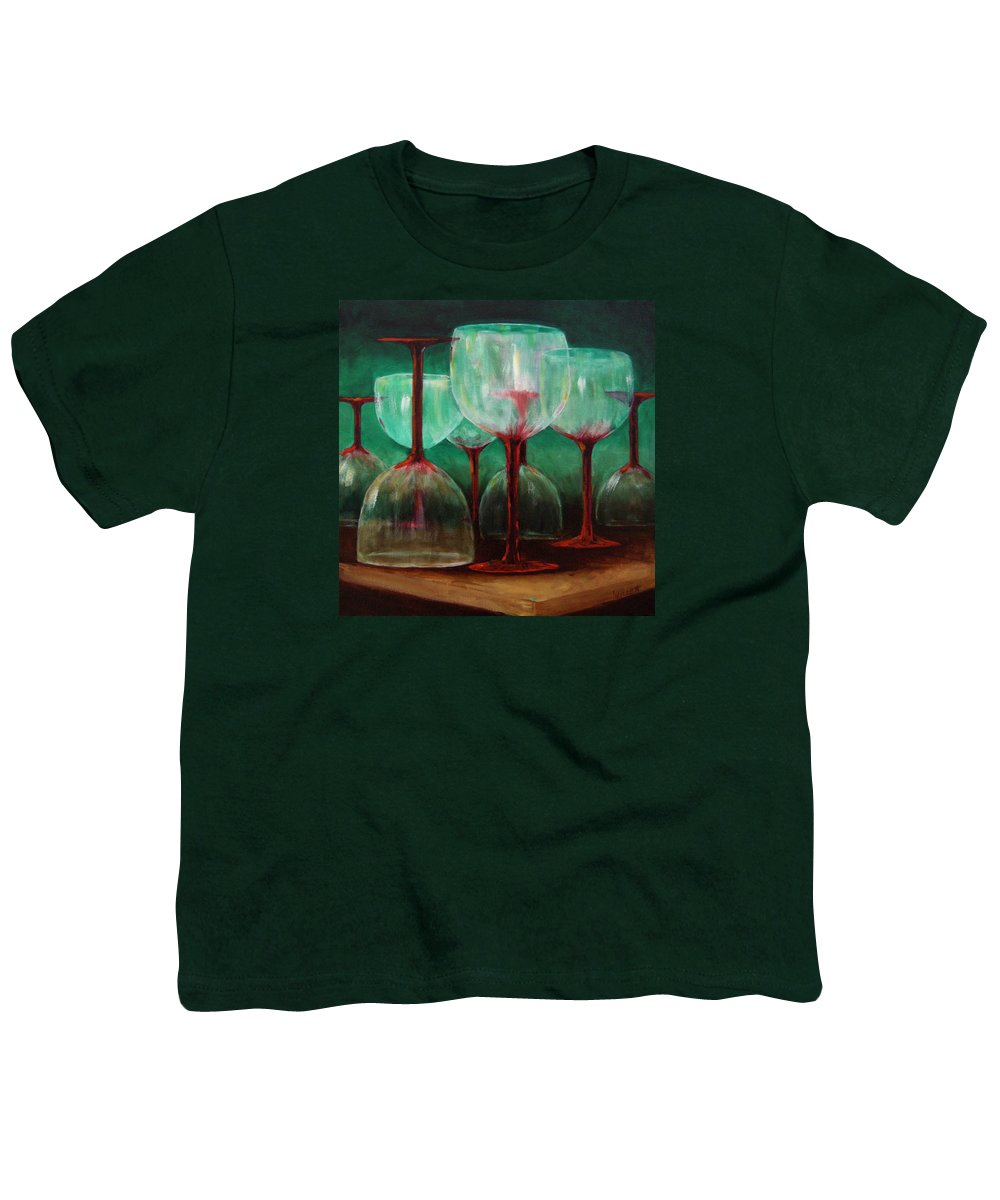 Oil Youth T-Shirt featuring the painting Upsidedown by Linda Hiller