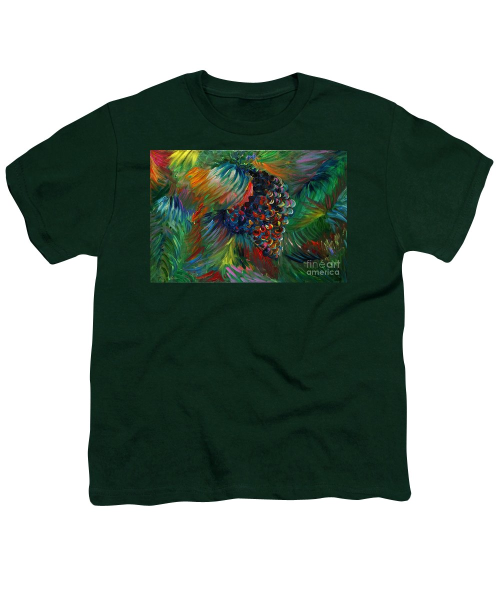 Grapes Youth T-Shirt featuring the painting Vibrant Grapes by Nadine Rippelmeyer