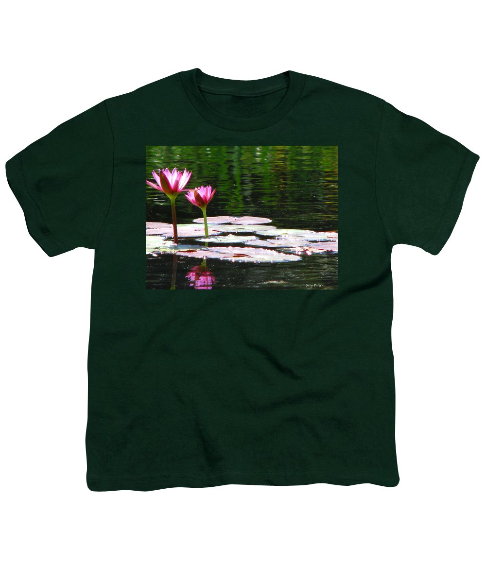 Patzer Youth T-Shirt featuring the photograph Water Lily by Greg Patzer